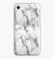 Black and White Marble Effect iPhone Case/Skin