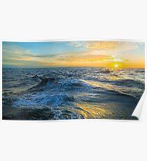 Sunset Sea Foam - Tropical Horizon Series Poster