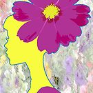 Flower Hair Lady by storecee
