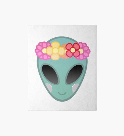 Flower Power Outer Space Art Board Print