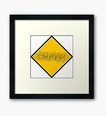 Chemistry Caution Signs Estrogen Framed Print