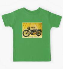 MOTORCYCLES: Vintage Antique Print Kids Tee
