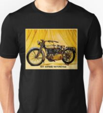 MOTORCYCLES: Vintage Antique Print Unisex T-Shirt