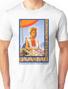 Restored Java and Bali Vintage Travel Poster Unisex T-Shirt