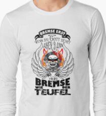 Bremse, erst wenn du Gott siehst... farbig Text sw T-Shirt