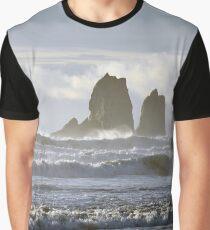 Rockaway Beach Oregon - Twin Rocks Graphic T-Shirt