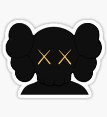KAWS companion head logo black gold Sticker