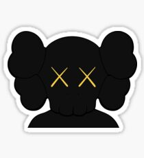 KAWS companion head logo black gold Sticker