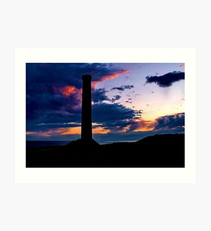 """Sunset Storm at Black Rock"" Art Print"