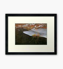 Cow Pond Brook Ice Framed Print