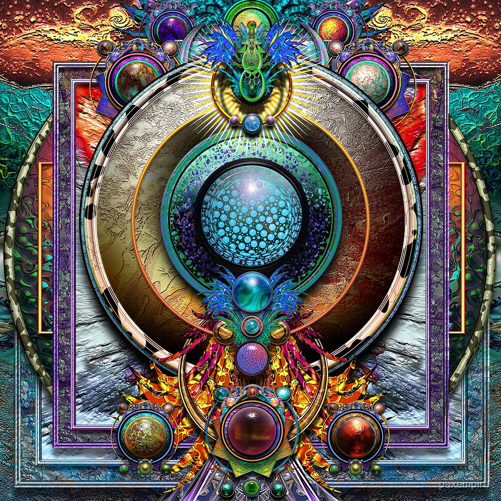 Bubbles Mandala  by paxempire
