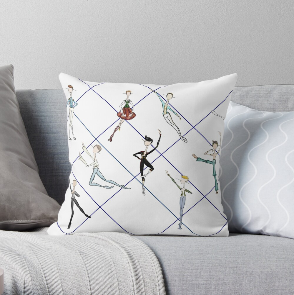 MALE BALLET ROLES Throw Pillow