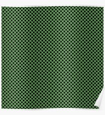 Hippie Green and Black Polka Dots Poster