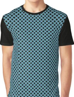 Hippie Blue and Black Polka Dots Graphic T-Shirt