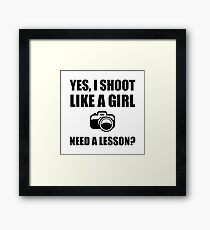 Like A Girl Photography Shoot Framed Print