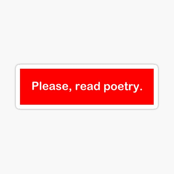 Poetry Sticker