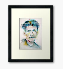 GEORGE ORWELL - watercolor portrait Framed Print