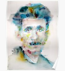 GEORGE ORWELL - watercolor portrait Poster