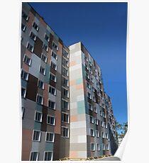 Checkered building exterior Poster