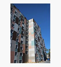 Checkered building exterior Photographic Print