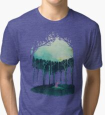 Deep in the forest Tri-blend T-Shirt