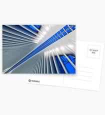 Postales Detalle del Hub de Transporte del World Trade Center, Oculus, por el arquitecto Santiago Calatrava | Nueva York, NY