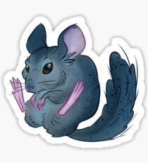 Fluffy Chinchilla Sticker