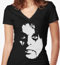 Prince Of Shock Rock Women's Fitted V-Neck T-Shirt