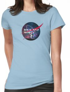 Rick and Morty Nasa Womens Fitted T-Shirt