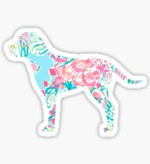 Fish Print Dog Sticker