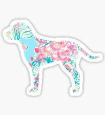 Fish Print Dog Sticker