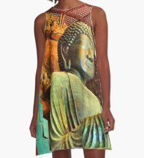The Great Buddha HDR A-Line Dress