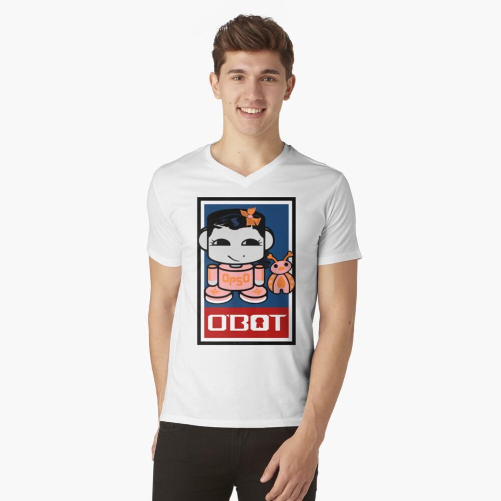 Opso Yo & Epo O'BABYBOT Toy Robot 2.0 V-Neck T-Shirt