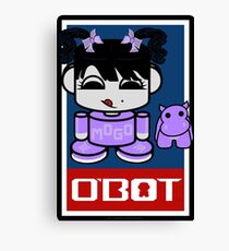 Mogo Yo & Crumple O'BABYBOT Toy Robot 2.0 Canvas Print