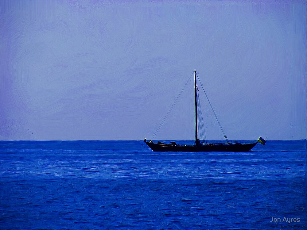 Long Ship on the Black Sea by Jon Ayres