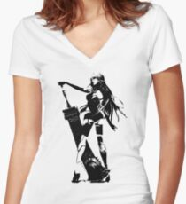 Weathered A2 Nier Automata Women's Fitted V-Neck T-Shirt
