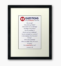 Questions for Successful Companies Framed Print