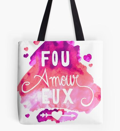 Fou Amour Eux - Crazy in Love Tote Bag