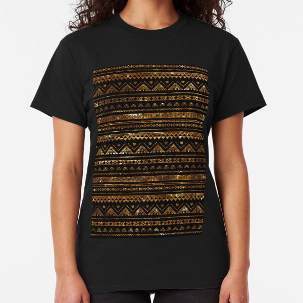 Aztec Black Tinsel Gold Classic T-Shirt