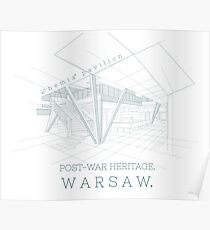 Architecture Warsaw Post-war Modernism - Pawilon Chemia Poster