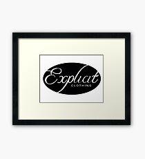 EXPLICIT CLOTHING  Framed Print