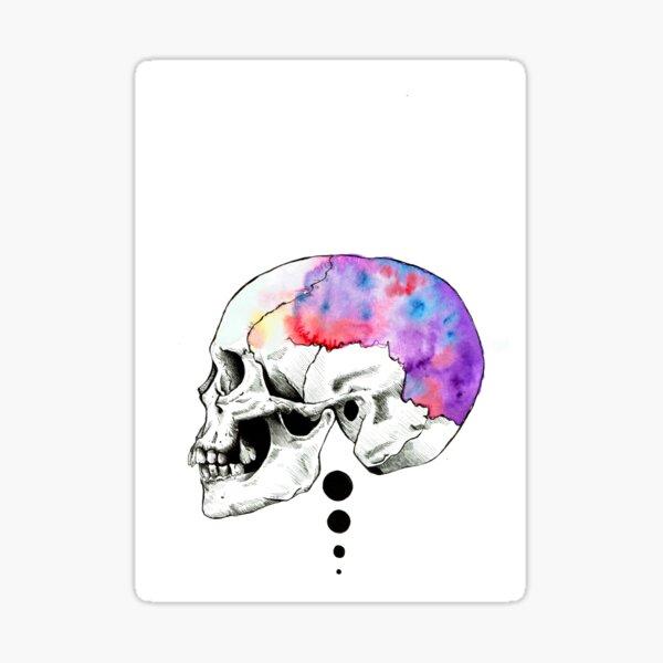 Pensamientos creativos. Pegatina