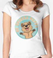 Be Quokka Happy Fitted Scoop T-Shirt