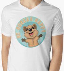 Be Quokka Happy Men's V-Neck T-Shirt