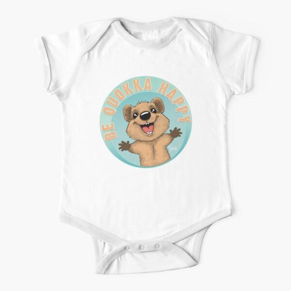 Be Quokka Happy Short Sleeve Baby One-Piece