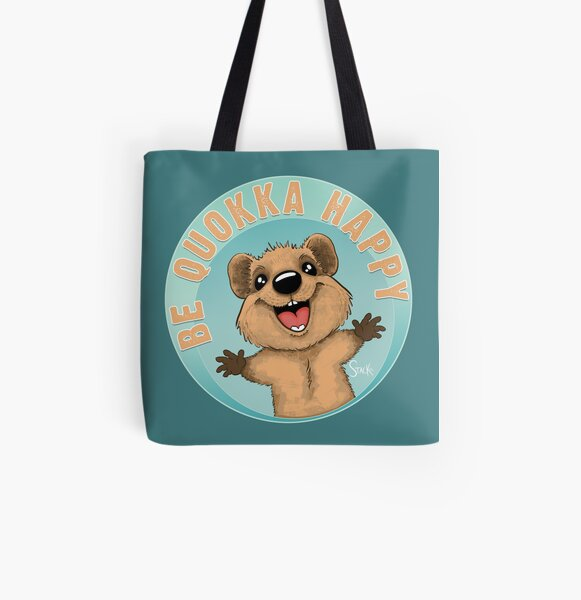 Be Quokka Happy All Over Print Tote Bag