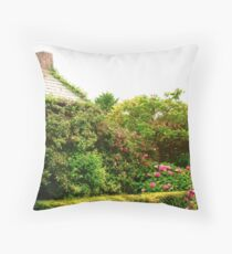 Cottage Garden, Donegal, Ireland Throw Pillow