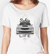 Subie life white Women's Relaxed Fit T-Shirt