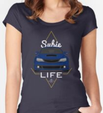 Subie life Blue Women's Fitted Scoop T-Shirt