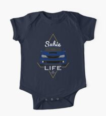Subie life Blue Short Sleeve Baby One-Piece